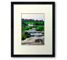 Bhatinda Water Fall Stairs, Dhanbad Framed Print