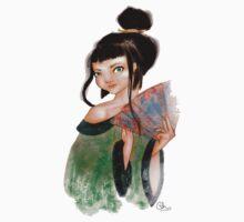 Modest Geisha in Kimono T-Shirt