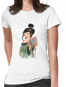 Modest Geisha in Kimono Womens Fitted T-Shirt