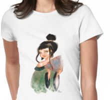 Modest Geisha in Kimono Womens Fitted T-Shirt