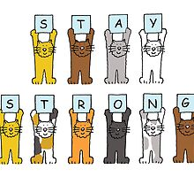 Stay Strong cats by KateTaylor