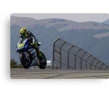 Valentino Rossi at laguna seca 2013 Canvas Print