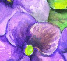 Three Violets Sticker