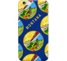 Smartphone Case - State Flag of Montana - Diagonal III iPhone Case/Skin