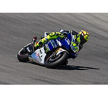 Valentino Rossi at laguna seca 2013 Photographic Print