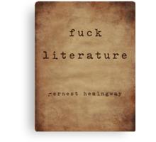 Hemingway On Literature Canvas Print