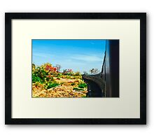 The Train the Rugged Framed Print