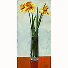 Daffodils - oil painting by LindaAppleArt