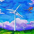 Kites and Turbines by zummerfish