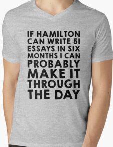 If Hamilton can do it, I can Mens V-Neck T-Shirt