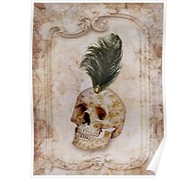 Skull & Feather Poster