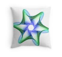 Blown Glass Flower Throw Pillow