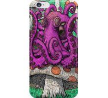 Octopus on Mushrooms iPhone Case/Skin