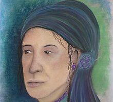 Romany Portrait - Soft Pastels by Janette Oakman