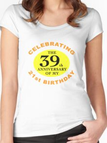 Funny 60th Birthday (Anniversary) Women's Fitted Scoop T-Shirt