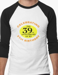 Funny 60th Birthday (Anniversary) Men's Baseball ¾ T-Shirt