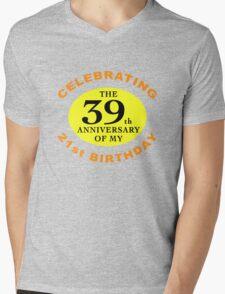 Funny 60th Birthday (Anniversary) Mens V-Neck T-Shirt