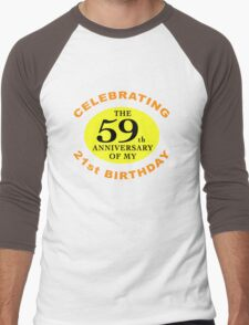 Funny 80th Birthday (Anniversary) Men's Baseball ¾ T-Shirt