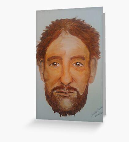 Bearded Man - Watercolour Portrait Greeting Card