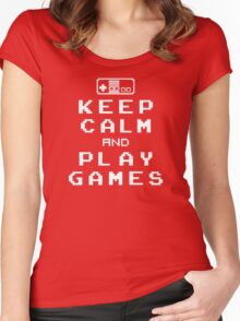 Keep Calm Play Games Women's Fitted Scoop T-Shirt