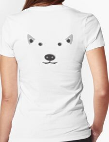 POLAR, BEAR, FACE, ARCTIC, FRIENDLY, Ursus maritimus, Eco, Ecology, Nature Womens Fitted T-Shirt