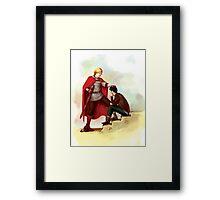Merlin et Leon Framed Print