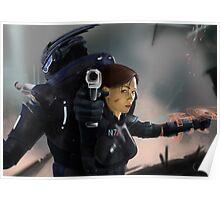 Shepard and Garrus Poster