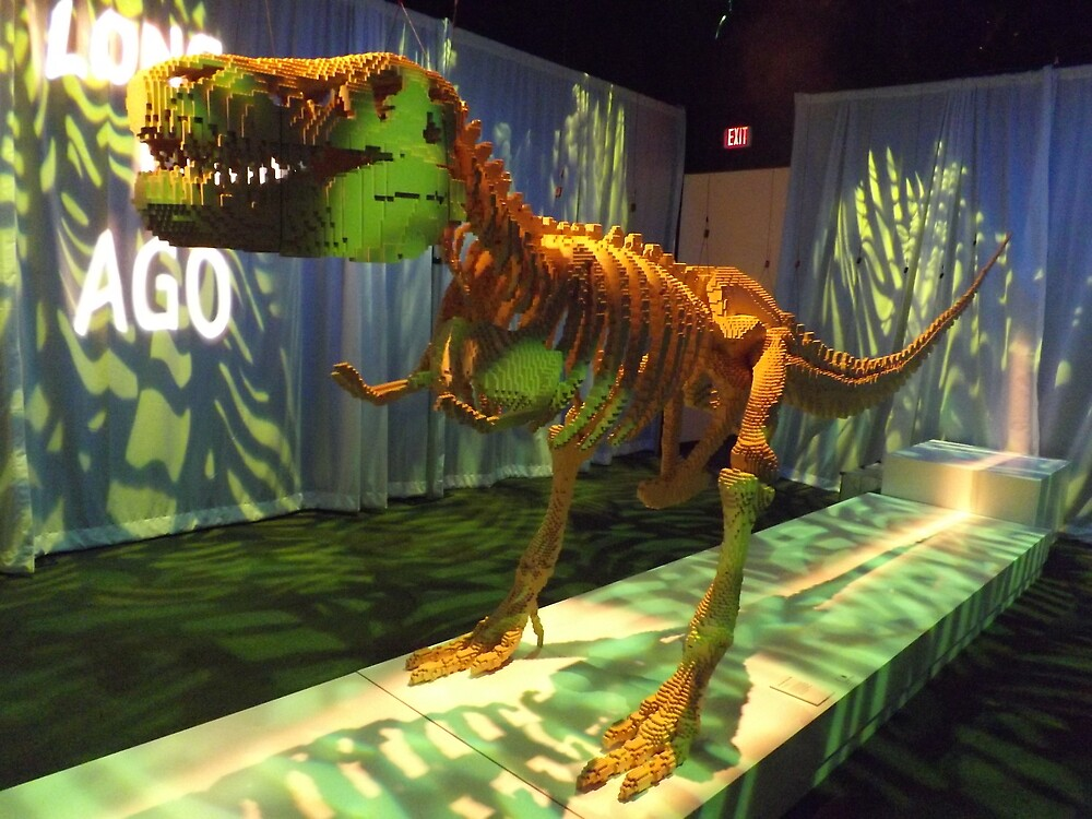 Lego Dinosaur, Art of the Brick Exhibition, Discovery Times Square, New York City, Nathan Sawaya, Artist by lenspiro