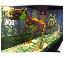 Lego Dinosaur, Art of the Brick Exhibition, Discovery Times Square, New York City, Nathan Sawaya, Artist Poster