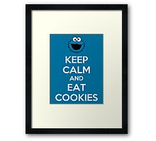 Keep Calm And Eat Cookies Framed Print