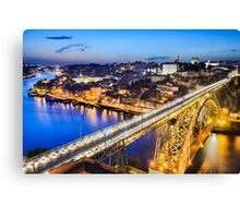 Porto with the Dom Luiz bridge, Portugal Canvas Print