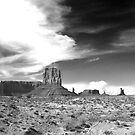 Black and White picture of Monument Valley. by philw