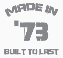 1973 Birthday 'Built To Last' by thepixelgarden