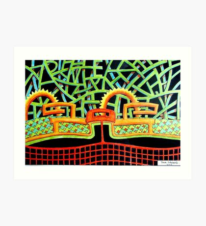 387 - ABSTRACT DESIGN - DAVE EDWARDS - COLOURE DPENCILS - 2013 Art Print