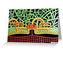 387 - ABSTRACT DESIGN - DAVE EDWARDS - COLOURE DPENCILS - 2013 Greeting Card