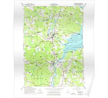 USGS TOPO Map New Hampshire NH Newmarket 329719 1956 24000 Poster