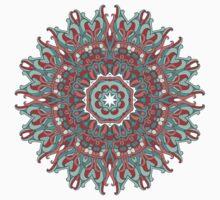 Patterned Mandala by Anna  Yudina