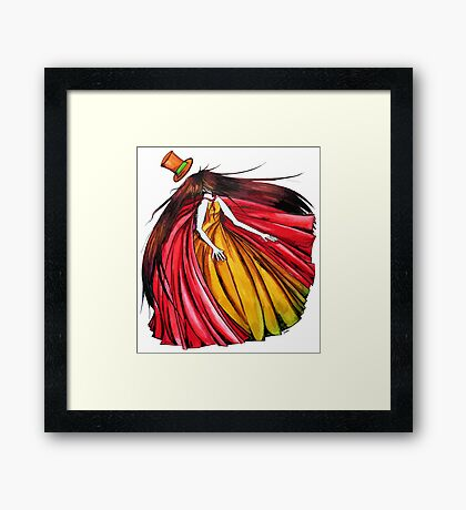 """""""Who is the mad hatter ?"""" : Le Chaperon Rouge / The Red Riding Hood Framed Print"""