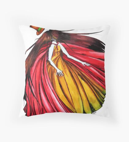 """""""Who is the mad hatter ?"""" : Le Chaperon Rouge / The Red Riding Hood Throw Pillow"""