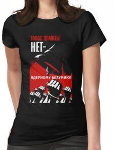 Soviet Propaganda Political T-shirt Womens Fitted T-Shirt