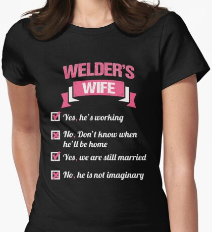 WELDER'S WIFE Womens Fitted T-Shirt