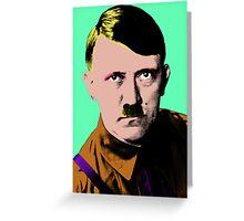 Hitler Warhol Single Greeting Card