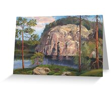Landscape. Lake in the forest Greeting Card
