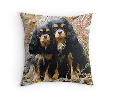 Cavalier King Charles Spaniel Dog Portrait Throw Pillow