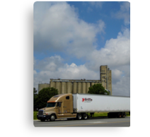 Truck And Mill Canvas Print