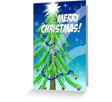 Christmas Tree in Snow Greeting Card