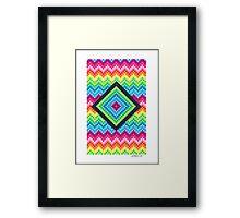 CUBES DESIGN PAPER Framed Print