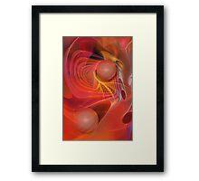 Red Magic, abstract fractal art Framed Print