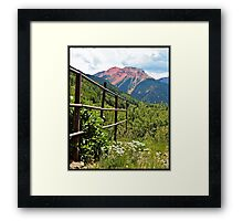 Fence At Ouray Framed Print
