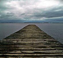 Dock and Sky by jbarnesphotos